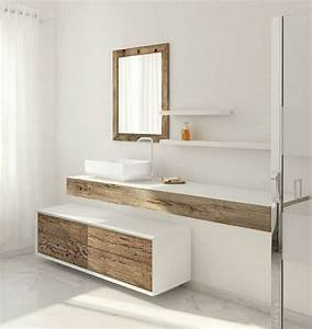 Meuble Salle De Bain Bois Blanc : id e d coration salle de bain meuble vasque salle bain ~ Teatrodelosmanantiales.com Idées de Décoration