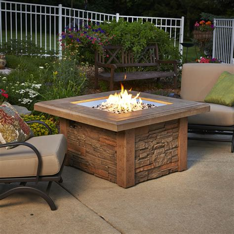 propane gas fire pit outdoor table by blue rhino shop outdoor greatroom company 43 5 in w 80000 btu mocha