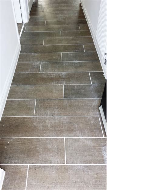 grout haze removed from wood effect porcelain floor tiles