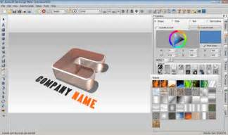 logo design programm 3d text logo maker freeware de