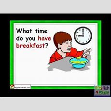 English For Kidsesl Kids Lessons  Telling The Timeflv Youtube
