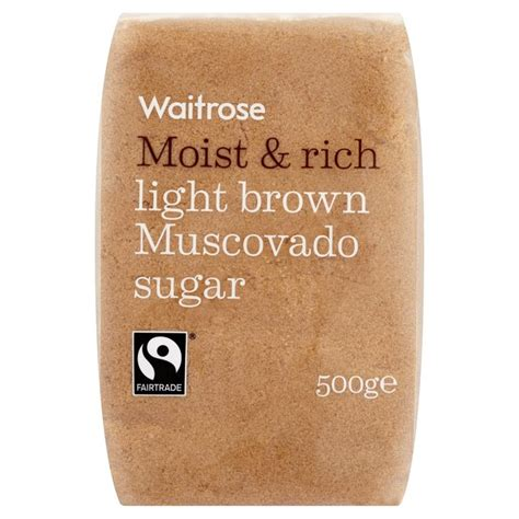 light muscovado sugar waitrose light brown muscovado sugar 500g from ocado