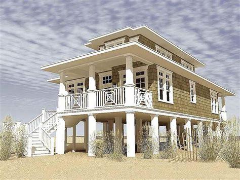 modular beach homes  pilings gallery  narrow lot beach house plans highlands pinterest