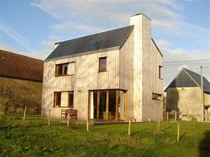 Bardage Façade Maison : maison en bois maison ossature bois bardage douglas non trait ~ Nature-et-papiers.com Idées de Décoration