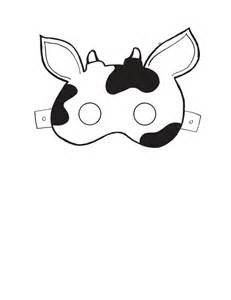 Printable Cow Mask Template