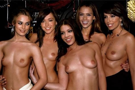 Keira Alyson Michelle Jessica Eva At Topless Sex Party