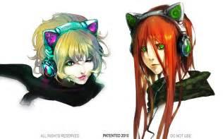 cat ear headphones yuumei cat ear headphones