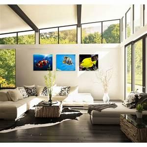 Tableau Triptyque Mural : tableau triptyque tropical fish ~ Teatrodelosmanantiales.com Idées de Décoration