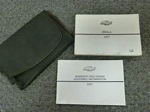 2007 Chevy Impala Owner Operator Manual User Guide Set Lt