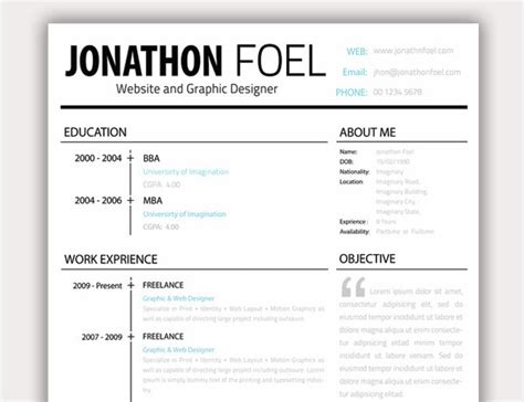 Experience Column In Resume by 20 Free Resume Design Templates For Web Designers Themes