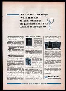 1965 Motorola Semiconductors Public Announcement Guides