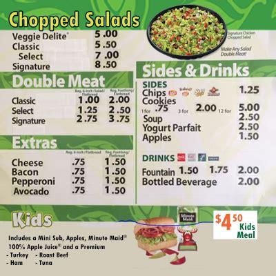 Subway Salad Menu Items