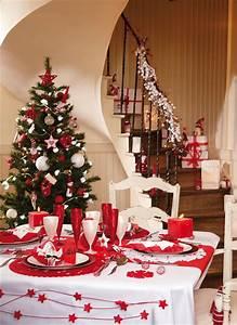 Table De Noel Blanche : deco de table de noel blanche et rouge mjcfj val bonne ~ Carolinahurricanesstore.com Idées de Décoration