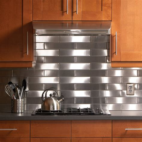 stainless steel kitchen backsplash ideas top 20 diy kitchen backsplash ideas 8238