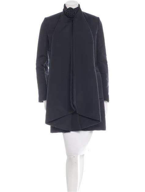 Draped Coats - valentino wool blend draped coat clothing val48222