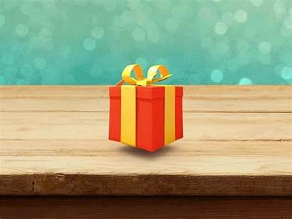 Gift Box Dribbble App Animated Jumping Giftbox