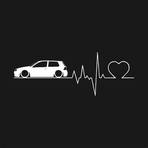 Heartbeat Golf Car Love Shirt Gift - Heartbeat Golf Car Gti Gift - T-Shirt | TeePublic