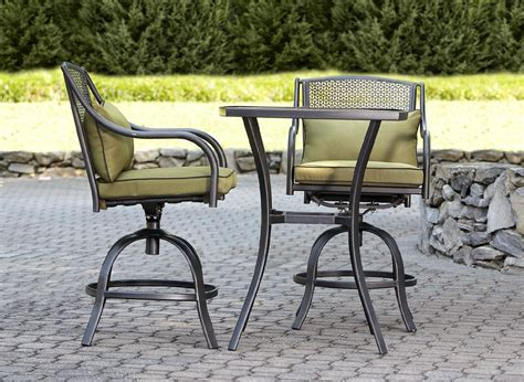 Bowery 3pc Sted Back Tall Bistro Set Sit And Sip With