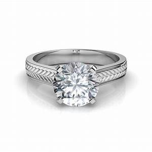 cathedral solitaire engagement ring With wedding rings with solitaire diamond