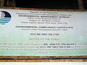 Environmental Compliance Certificates