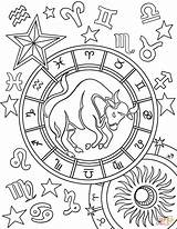 Zodiac Taurus Coloring Pages Sign Signs Aries Sagittarius Printable Astronomy Sheets Star Adult Gemini Adults Symbol Supercoloring Onlycoloringpages Para Tauro sketch template