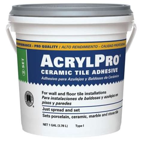 acrylpro ceramic tile adhesive custom building products acrylpro 1 gal ceramic tile