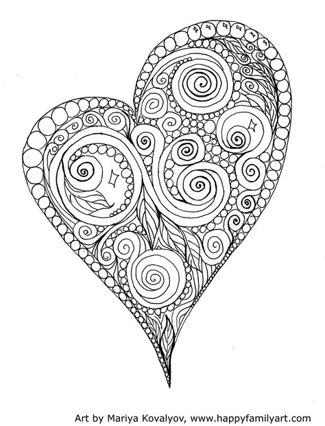 printable valentines day coloring pages  craftily