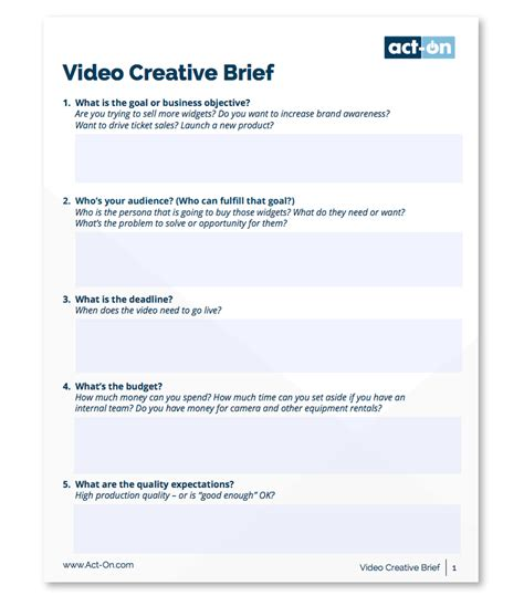 The Best Way To Write A Creative Brief With Helpful