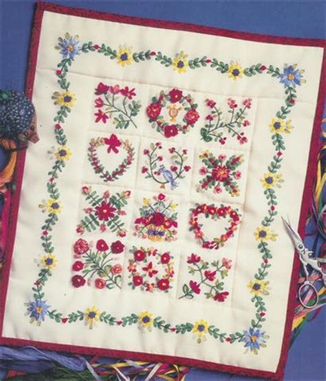 beautiful embroidery  ribbon silk embroidery origami