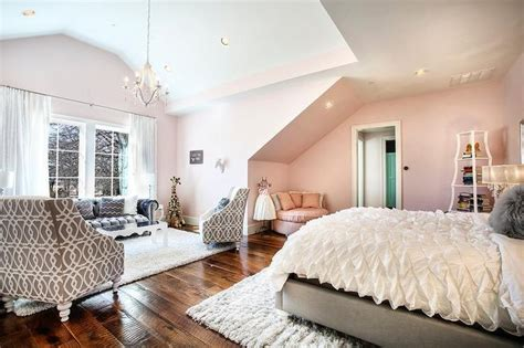 glamorous contemporary girls bedroom donning cotton candy