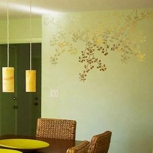 Beautiful Flowers Stencil Wall Decor Stencil Wall Decor