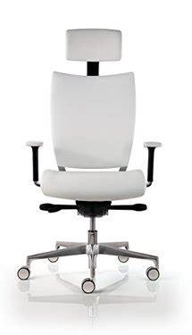 chaise de bureau cuir blanc ultra ergonomique