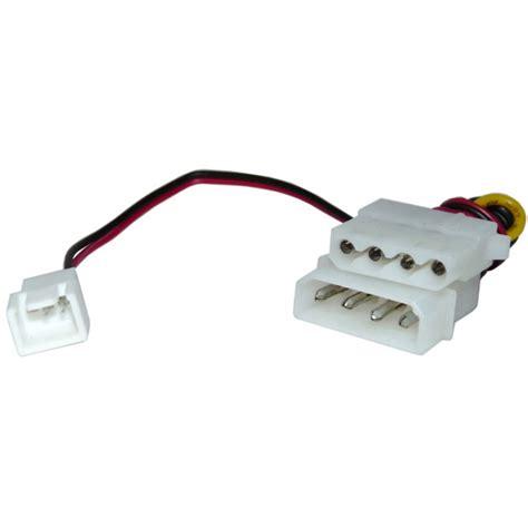 3 pin fan connector to 4 pin 3 pin to 4 pin molex power adapter directron com