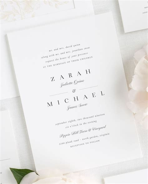zarah wedding invitations wedding invitations by shine