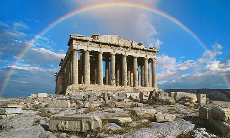 aerial view   parthenon temple  athens greece