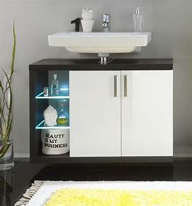 Latest great meuble lavabo meuble sous lavabo suspendu de for Salle de bain design avec lavabo encastrable castorama