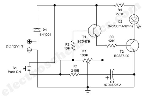 timer light switch circuit
