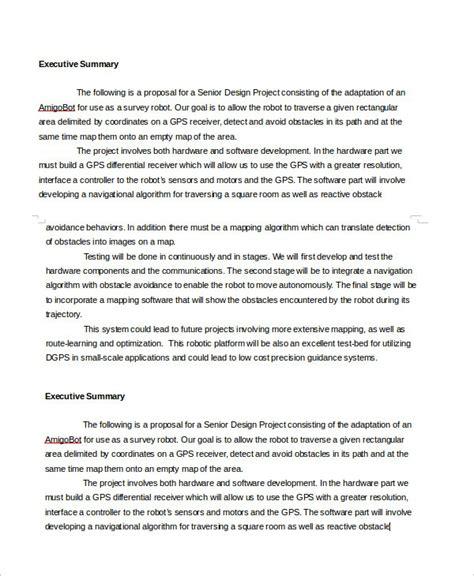 Executive Summary Template Executive Summary Template Doliquid