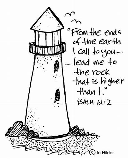 Clipart Psalm Bible Psalms Scripture Lighthouse Coloring