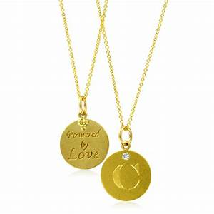 initial necklace letter c diamond pendant with 18k yellow With letter c necklace