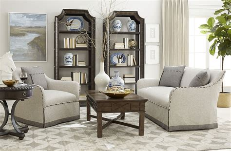 american chapter tryon heather grey living room set art