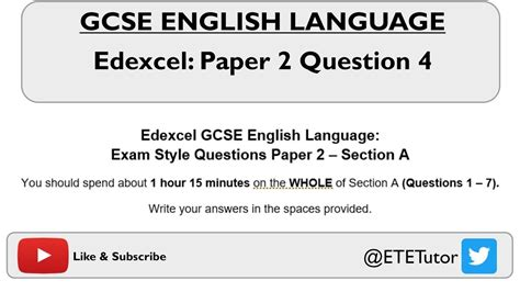Level of response marking instructions GCSE English Language Paper 2: Section A: Question 4 ...