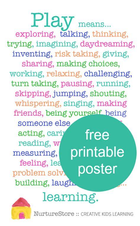 importance of art in preschool why is play important printable poster nurturestore 847