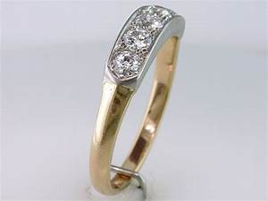 vintage antique art deco diamond 14k platinum wedding ring With vintage platinum wedding ring