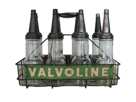 1930s-40s Valvoline Motor Oil Eight Bottle Service Island