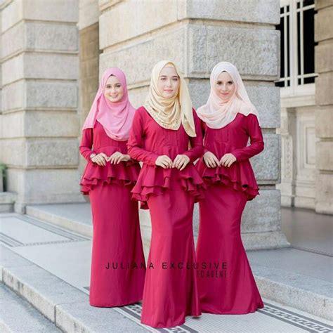 trend design baju raya  lelaki  wanita terkini