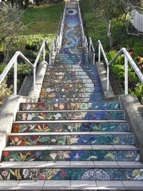 16th avenue tiled steps in san francisco 16th ave san francisco california afar