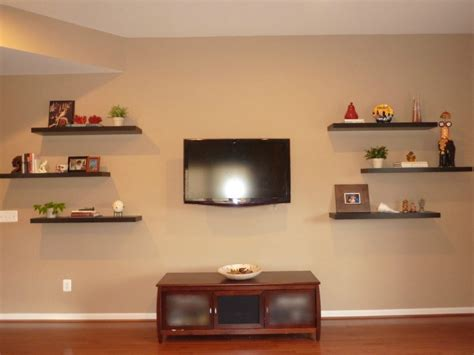 shelves tv how to decorate around a tv with floating shelves whats Floating