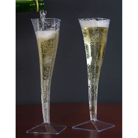 fineline wavetrends  clear plastic  oz champagne