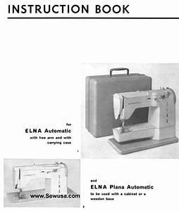 Elna Plana Instruction Manual Pdf Download